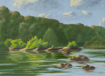 River View Park, Oil Painting By Staiger Studio 434-962-8463